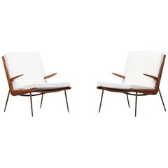Peter Hvidt Lounge Chairs with Armrests * NEW UPHOLSTERY *