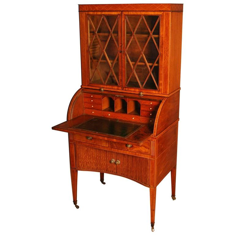 George Iii Small Mahogany Bureau Cabinet At 1stdibs