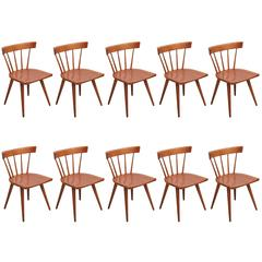 Set of 10 Paul McCobb Spindle Back Chairs for Winchendon, USA, 1950s