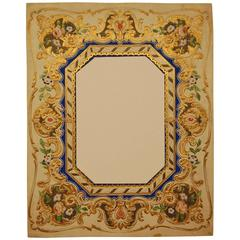 Victorian Era European Embossed, Hand Colored Mat