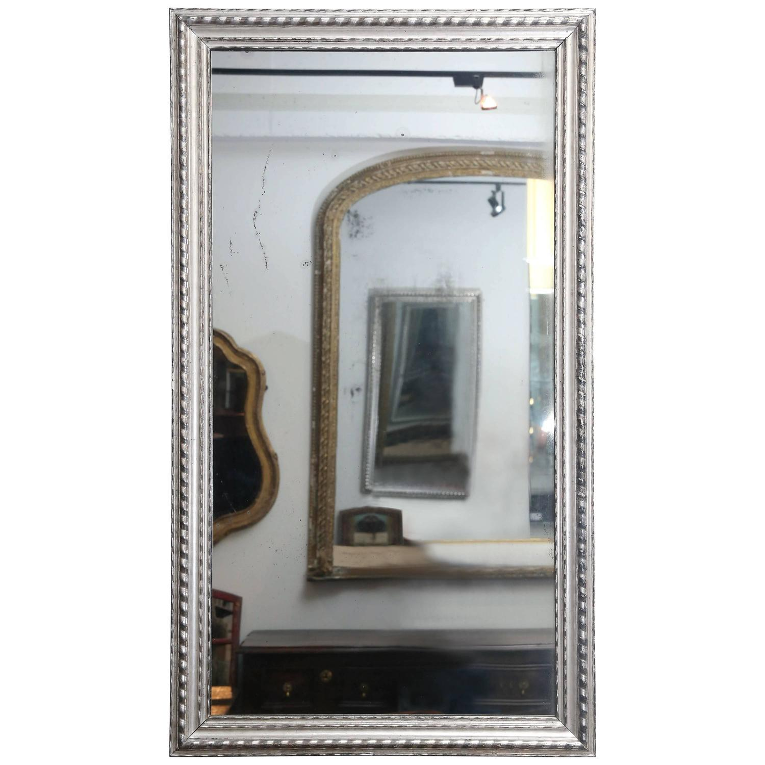 Antique 19th century silver mirror for sale at 1stdibs for Silver mirrors for sale