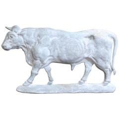 Zinc Cow Sign from French Butcher Shop