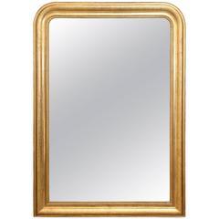 Antique Large 19th Century Louis Philippe Mirror