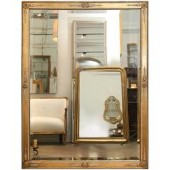 Antique 19th Century Directoire Mirror with Beveled Glass