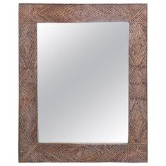 Antique 19th Century Tramp Art Mirror