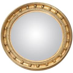 19th Century Convex Mirror with Original Glass
