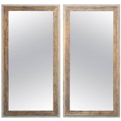 Pair of Large Contemporary Mirrors Made from 18th Century Reeded Fragment S
