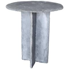 Hand Chiseled Stone Side Table