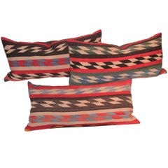 Collection of Three Navajo Indian Weaving Pillows