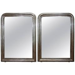 Pair of Silver Gilt Louis Philippe Mirrors