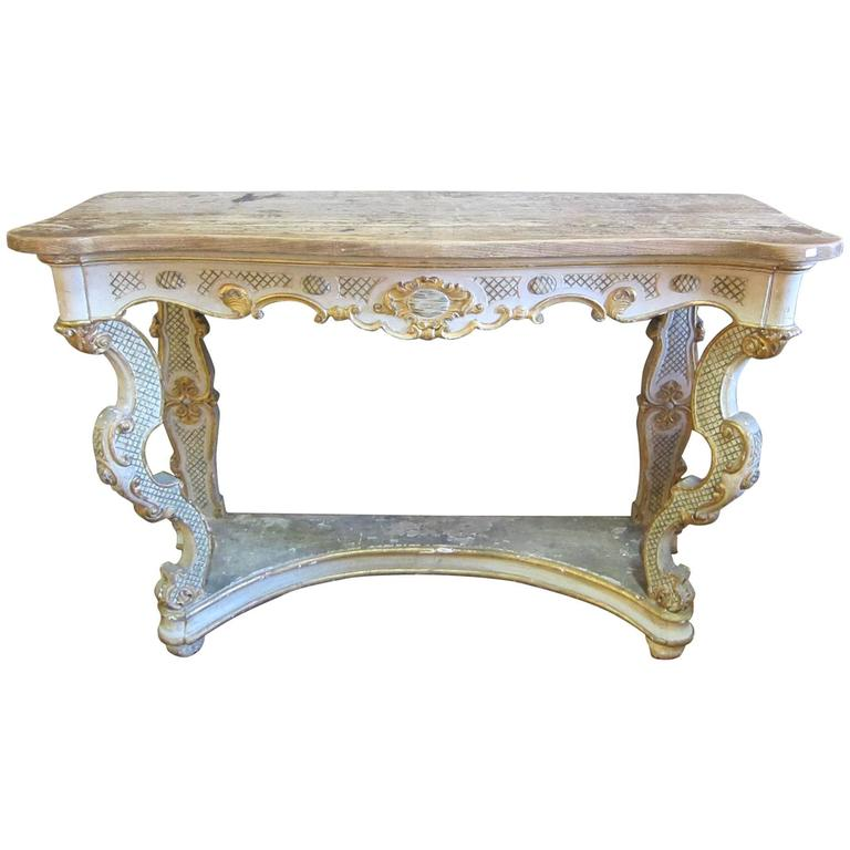 19th Century Italian Baroque Console For Sale