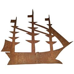 19th Century Sailing Ship Weathervane