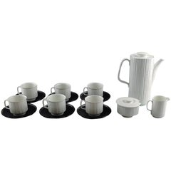 T. Wirkkala for Rosenthal Studio-Line Porcelaine Noire Six Person Coffee Service