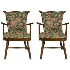 Pair of Danish Modern Spindle-Back Chairs