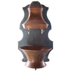 Early 19th Century French Copper Wall Fountain or Lavabo