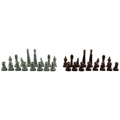 Sven Wejsfelt for Gustavsberg, Complete Set of Chess Pieces in Ceramics