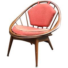 Ib Kofod-Larsen Danish Modern Hoop Chair