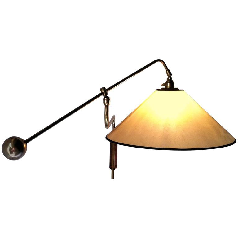 1950s Quot Gallows Quot Sconce Attributed To Robert Mathieu For