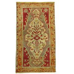 Antique Turkish Sivas Superfine Carpet Mat