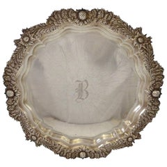 Chrysanthemum by Tiffany Sterling Silver Salver Tray Octagonal Shape Hollowware
