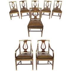 "Set of Eight ""Lyre"" Chairs, Russia, Neoclassical, circa 1820"