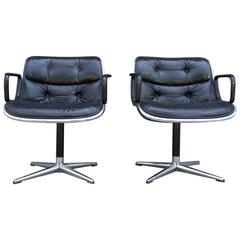 Pair of Early Charles Pollock for Knoll Accent Chairs