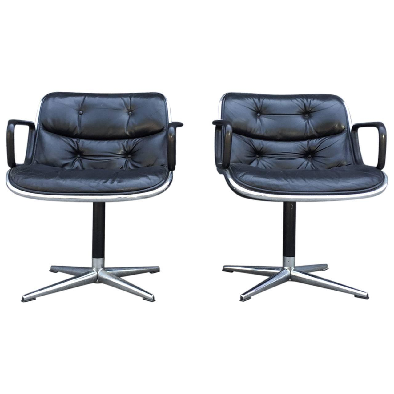 and charles z chairs office b pair desk furniture accent for pollock seating sale of knoll early creators