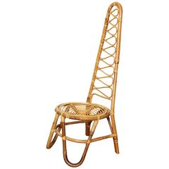 Bamboo High Back Chair, Italy, circa 1960s