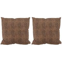 A Pair Cheetah Print Pillows