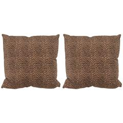 A Pair Cheetah Print Pillows