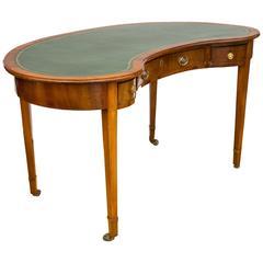 Goerge III Hepplewhite Style Kidney-Shaped Writing Table