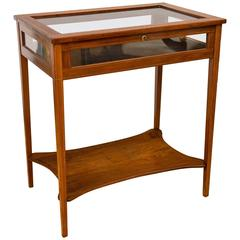 Edwardian Marquetry Bijouterie / Display Table