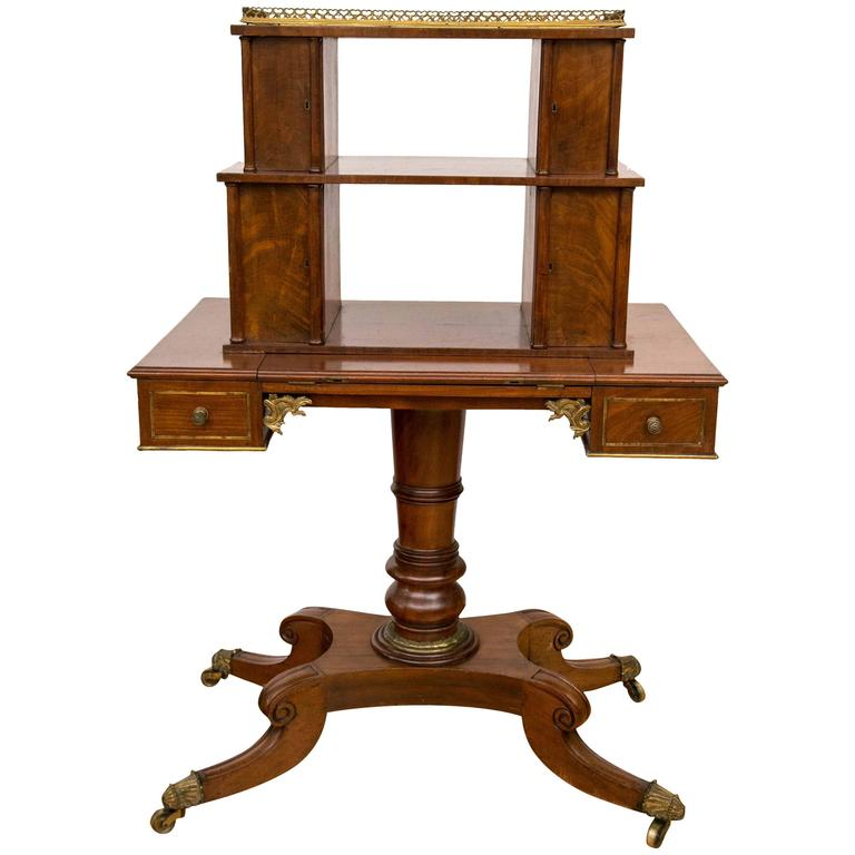 regency period mahogany bonheur du jour desk for sale at. Black Bedroom Furniture Sets. Home Design Ideas