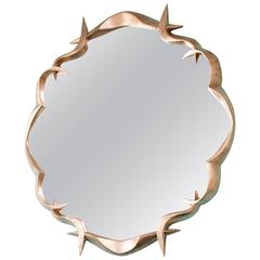 Gold Leafed Bronze Mirror by Anasthasia Millot