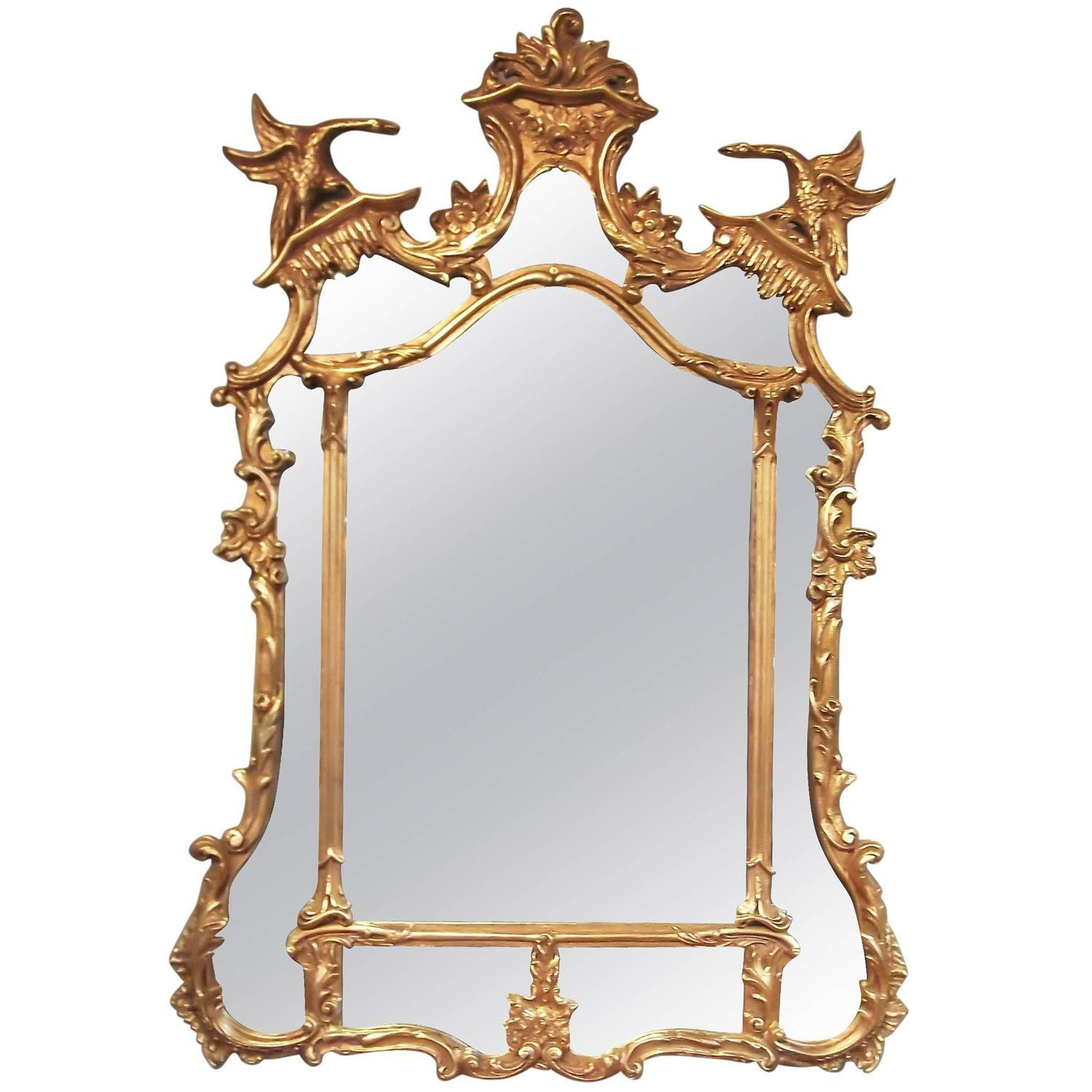 large elegant friedman brothers rococo style gilt mirror