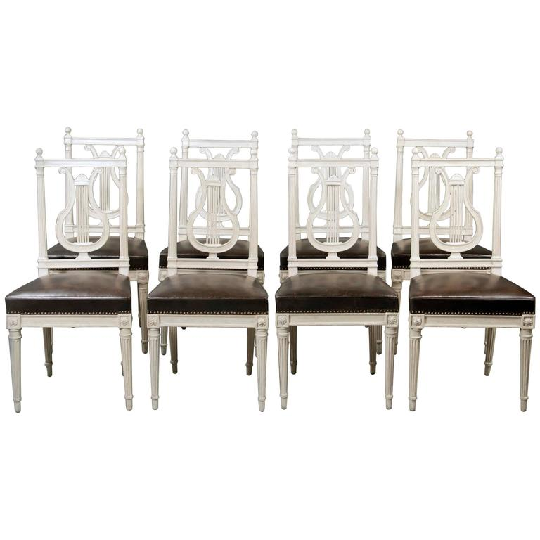 Set of Eight Chairs, Louis XVI, France, Late 18th Century For Sale