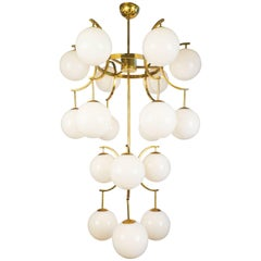 Mid-Century Style Modern Murano Glass Globe Chandelier