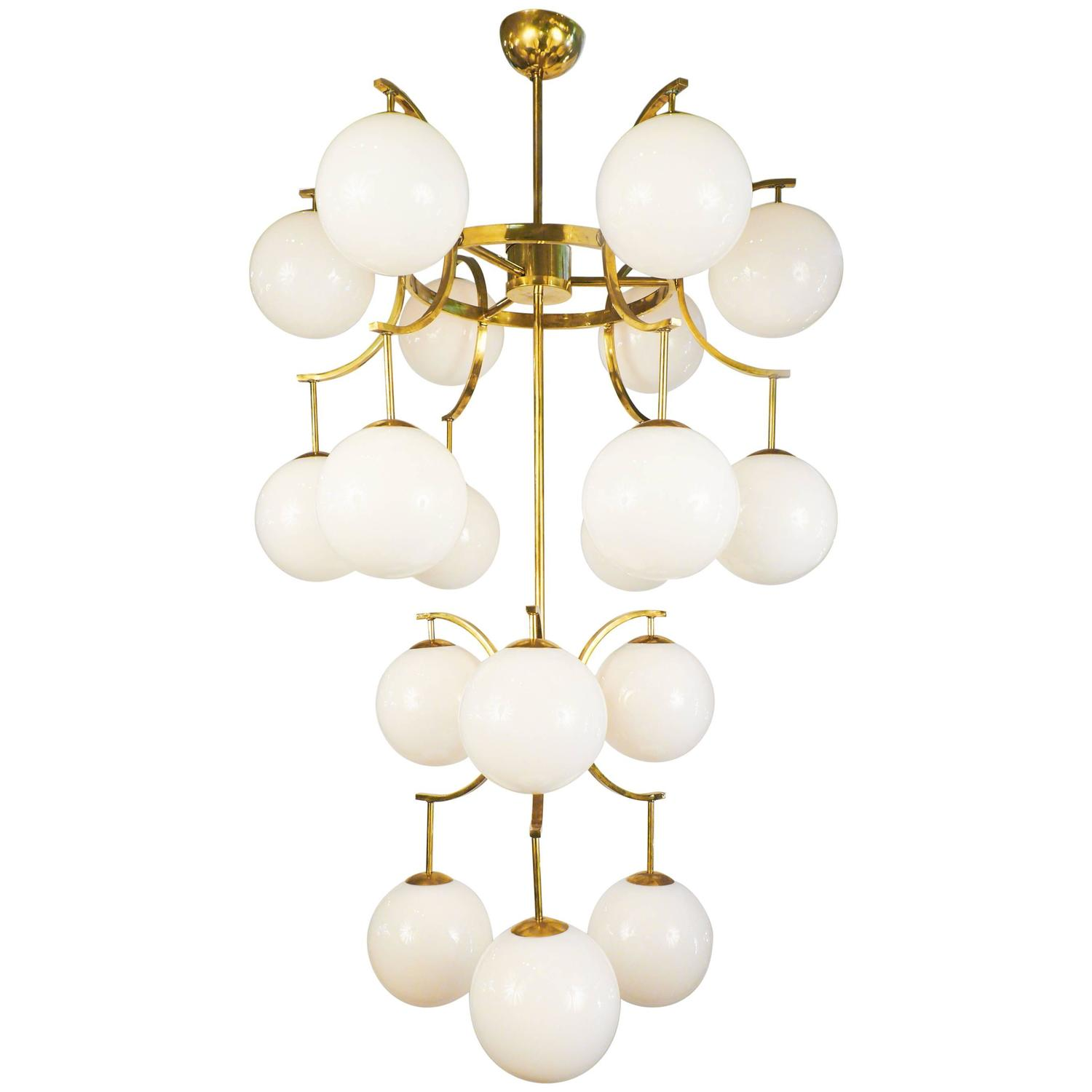 Mid Century Style Modern Murano Glass Globe Chandelier For Sale At 1stdibs