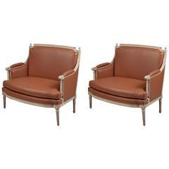 Paar Sessel im Stil Ludwigs XVI., Frankreich, um 1780