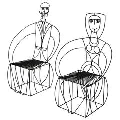 Pair of Sculptural Chairs by John Risley