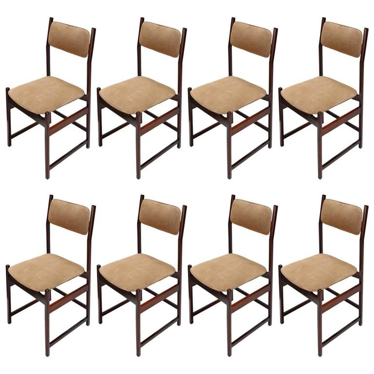 Set of L'Atelier Brazilian Jacaranda 1960s Dining Chairs