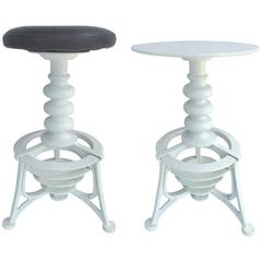 20th Century Industrial Cast Iron Interchangeable Stools to Tables