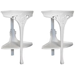 Pair of Art Nouveau Corner Tables