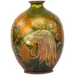 Art Deco Decorated Vase by Camille Fauré