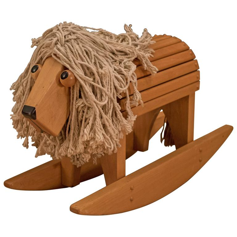 Vintage Lion Rocker Toy At 1stdibs