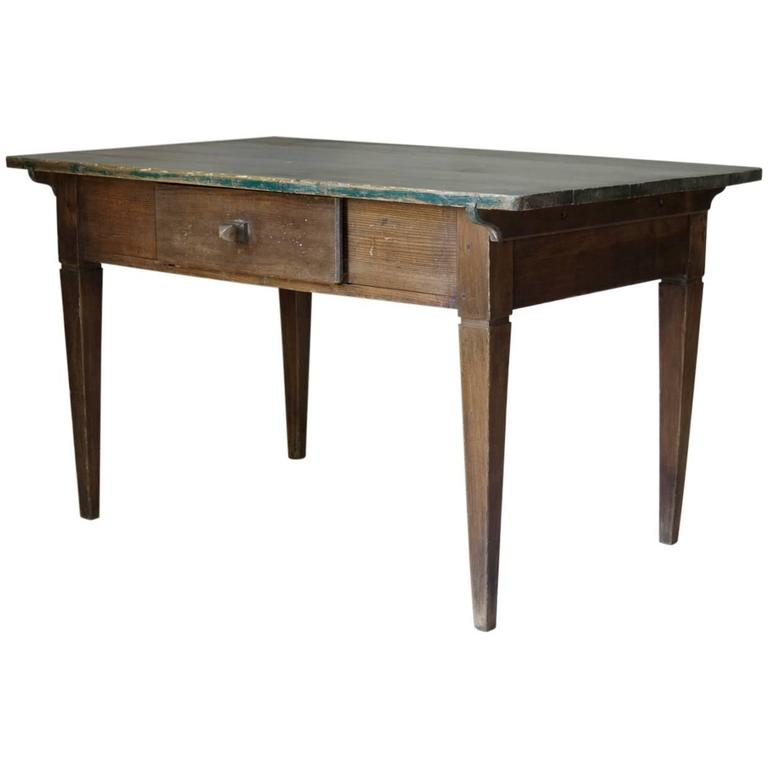 French 19th Century Rustic Pinewood Table