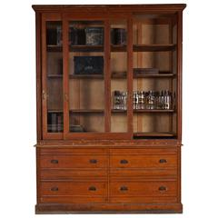 French Bookcase Display Cabinet