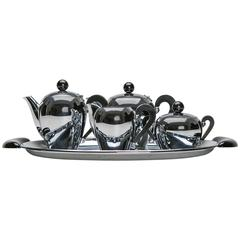 """Bombé"" Coffee Set by Carlo Alessi for Alessi"