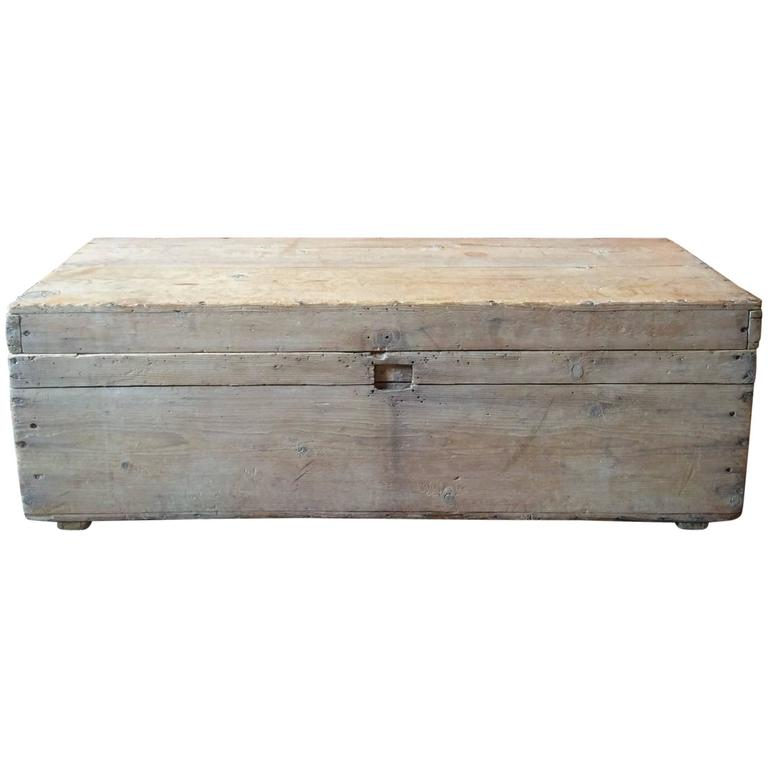 Trunk Coffee Table Pine: Stripped Pine Wooden Trunk Chest Coffee Table Blanket Box