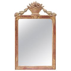Louis XVI Neoclassical Style Giltwood Mirror